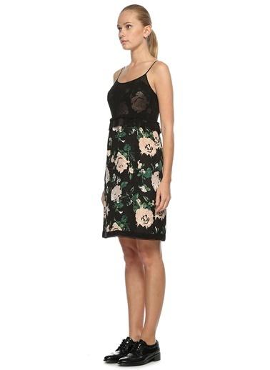 Club Monaco Askılı Çiçek Desenli Elbise Gri